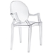 Modern Classic Caroline Arm Chair in Clear