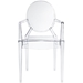Modern Caroline Arm Chair in Clear