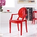 Caroline Modern Classic Arm Chair in Red