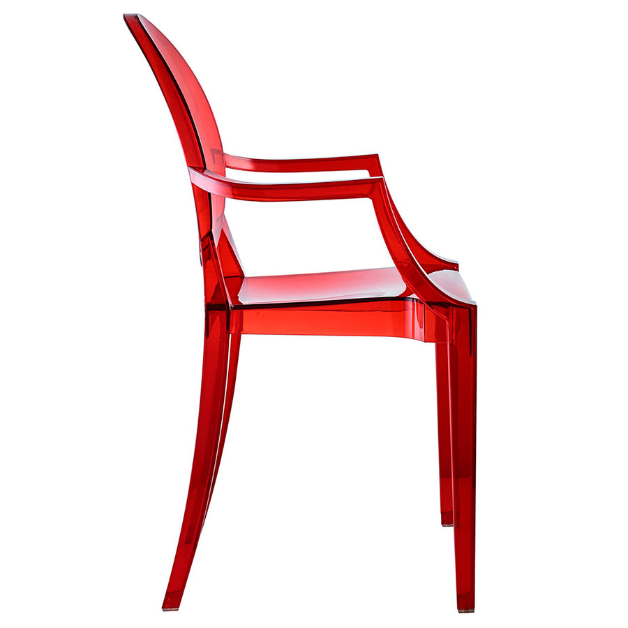 modern dining chairs  caroline red arm chair  eurway -  modern caroline arm chair in red