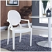 Caroline Modern Classic Arm Chair in White