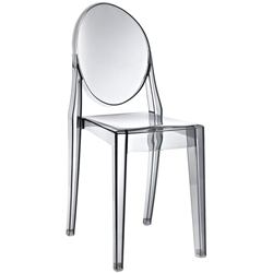 Caroline Smoke Polycarbonate Side Chair