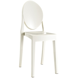 Caroline White Polycarbonate Side Chair