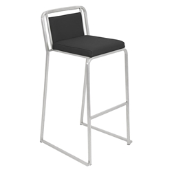 Carrie Black Modern Bar Stool
