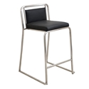 Carrie Black Modern Counter Stool