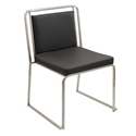 Carrie Black Modern Side Chair