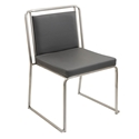 Carrie Gray Modern Side Chair