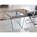 Carrizo Bent Glass Modern End Table - Lifestyle