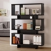Carrollton Contemporary Bookcase in Cappuccino