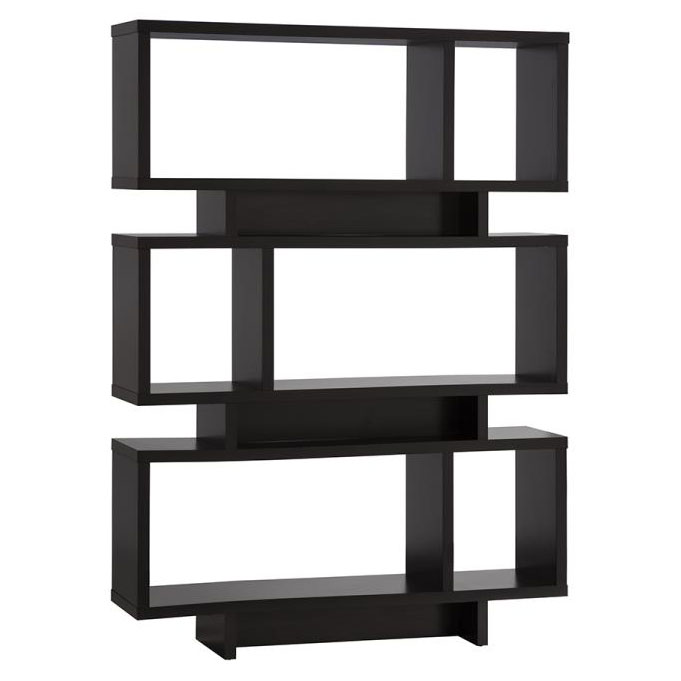 Carrollton Modern Bookcase in Cappuccino
