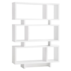 Carrollton Modern Bookcase in White