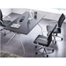 Carthage Black Faux Leather + Chromed Steel Modern Office Chair - Lifestyle