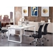 Carthage Black Faux Leather + Chromed Steel Modern Office Chair - Lifestyle 3