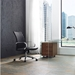 Carthage Black Faux Leather + Chromed Steel Modern Office Chair - Lifestyle 2