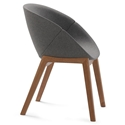 Carver Walnut Modern Chair