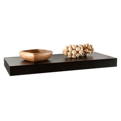 Cary Modern 24 Inch Black Wall Shelf