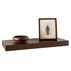 Cary Modern 24 Inch Brown Wall Shelf