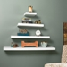 Cary Modern White Wall Shelf Collection