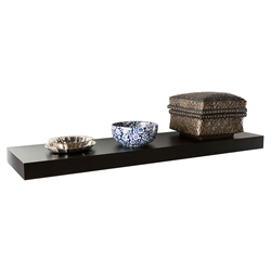 Cary Modern 36 Inch Black Wall Shelf