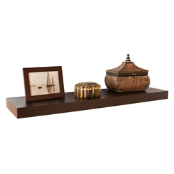 Cary Modern 36 Inch Brown Wall Shelf