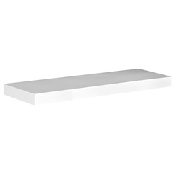 Cary Modern 36 Inch White Wall Shelf