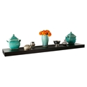Cary Modern 48 Inch Black Wall Shelf