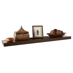 Cary Modern 48 Inch Brown Wall Shelf