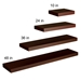 Cary Modern Brown Wall Shelves - Four Sizes