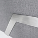 Casby Gray Leatherette + Stainless Steel Modern Lounge Chair Detail