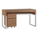 BDi Cascadia Modern Desk Set in Walnut + Satin NickelBDi Cascadia Modern Desk Set in Walnut + Satin Nickel