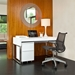 BDi Cascadia White Contemporary Desk Set