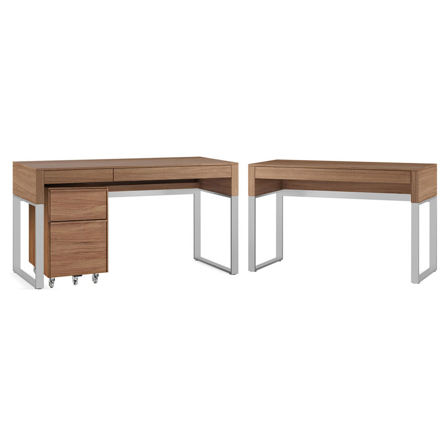 BDi Cascadia Walnut Modern Office Set