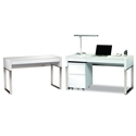 BDi Cascadia White Modern Office Set