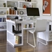 Multi White Modern Storage Desk by TemaHome