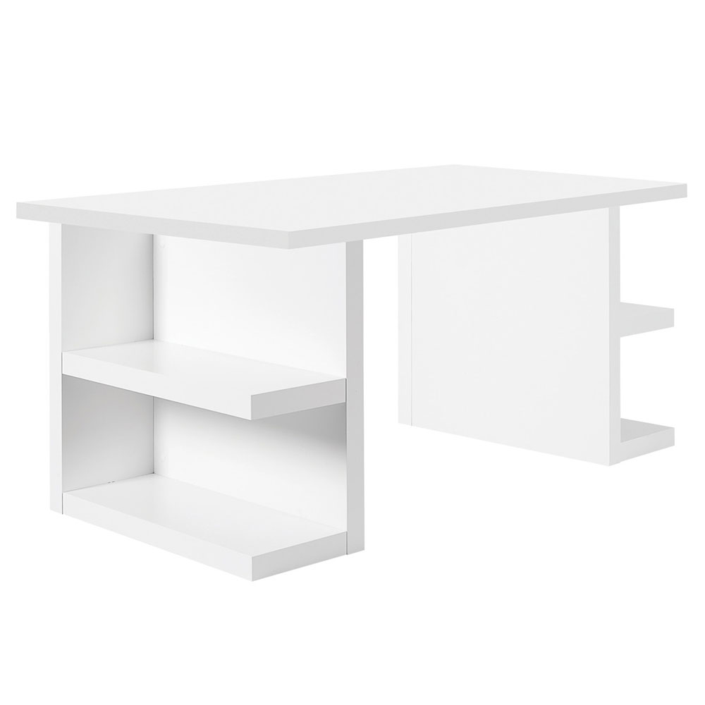Multi Modern White Storage Desk by TemaHome