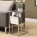 Casey Chrome Accent Table w/ White Magazine Rack