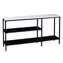 Casper Modern Faux Marble Top Console Table