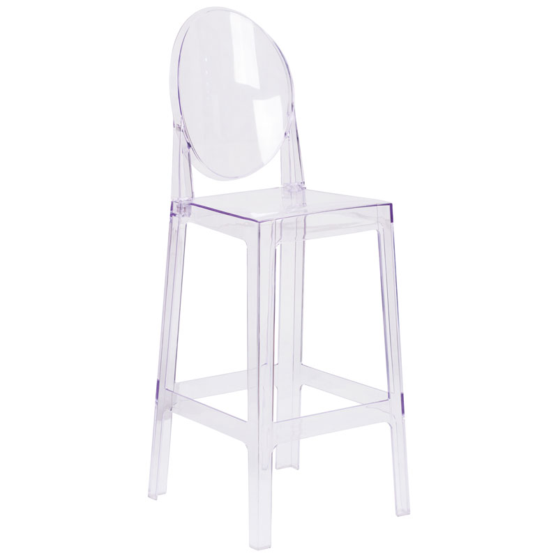 Cassidy Modern Clear Polycarbonate Barstool