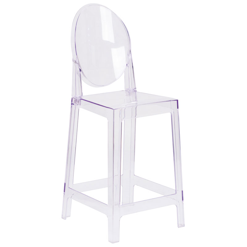 Cassidy Modern Clear Polycarbonate Counter Stool