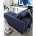 Cassius Excess Sleeper Sofa by Innovation in Mixed Dance Blue - Back View