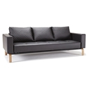 Cassius Quilt Black + Oak Modern Sofa Sleeper