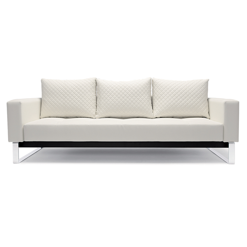 Delightful Cassius Quilt White Modern Sofa Sleeper By Innovation