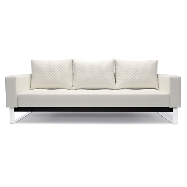 Cassius Quilt White Modern Sofa Sleeper by Innovation