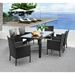 Catalina Woven Contemporary Outdoor Dining Table