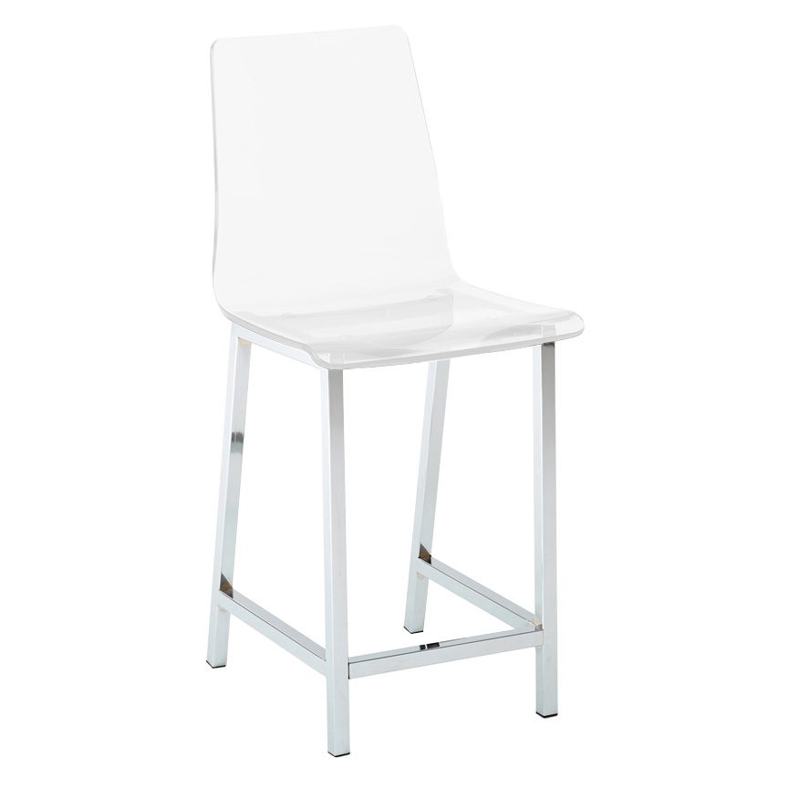 Superbe Call To Order · Cefalu Modern Clear Counter Stool
