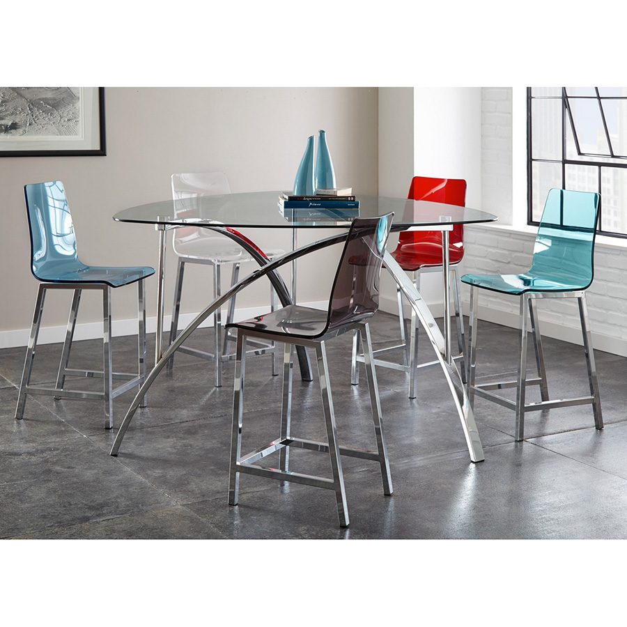 Attractive Acrylic Counter Height Stools Part - 12: Cefalu Modern Blue Counter Stool Cefalu Modern Acrylic Counter Stools