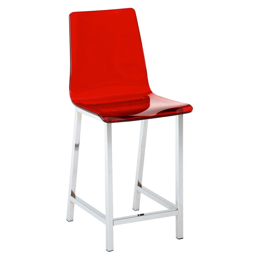 Cefalu Modern Red Counter Stool Eurway Furniture