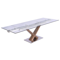 Celeste Walnut Modern Dining Table