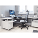 BDI Centro White + Gray Contemporary Office Furniture