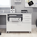 BDI Centro Multi-Function White + Gray Contemporary Cabinet